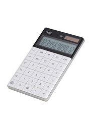 Deli 12 Digits Basic Calculator, Grey