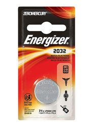Energizer 2032 Electronic Watch Lithium Battery, Silver