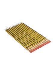 Staedtler 12-Piece HB 2 Noris Wooden Pencils with Eraser Set, Yellow/Black/Red