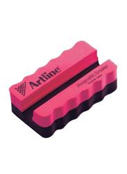 Artline Caddy Magnetic Whiteboard Eraser, Pink/Black