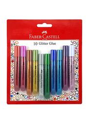 Faber-Castell Glitter Glue Assorted Set 10 x 12.5ml, Multicolor