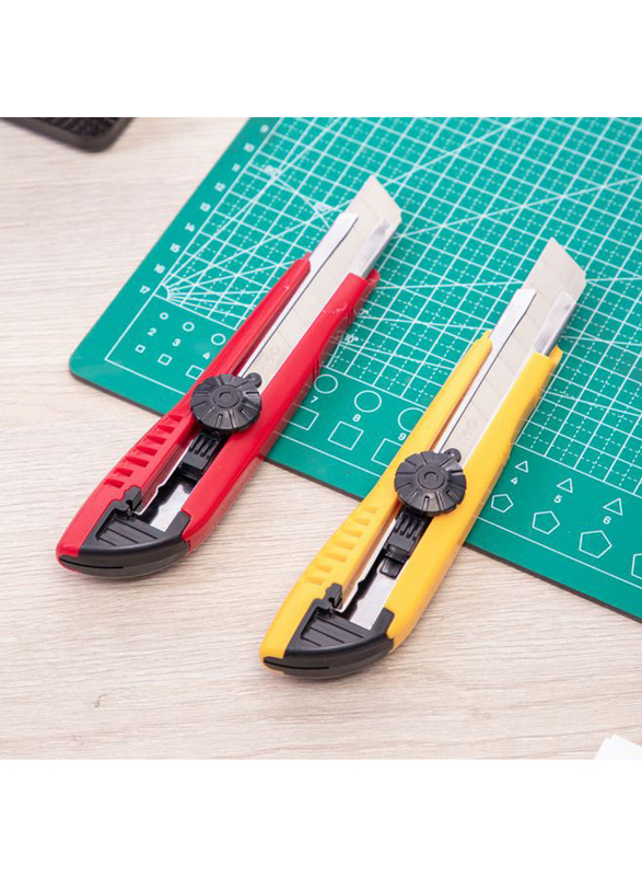Deli Scalpel Loll Lift Cutter, 2 Pieces, Yellow/Red