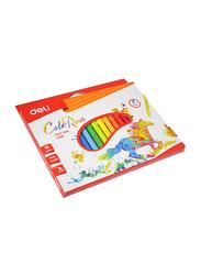 Deli 18-Piece Color Run Felt Pen Set, Multicolor