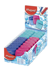 Maped 20-Piece Shaker 2 Hole Pencil Sharpener Box Set, Blue/Pink