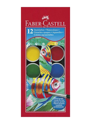 Faber-Castell 12-Piece Painting Watercolor, Multicolor