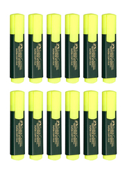 Faber-Castell 12-Piece Textliner 48 Refill Highlighter Pen Set, Yellow/Black