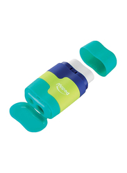 Maped Connect Eraser and Sharpener Combo, Blue/Green/Lime