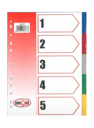 Deluxe Amt 50-Piece Index Divider Without Number, Multicolor