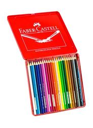 Faber-Castell 24-Piece Water Colour Pencil Set, Multicolour