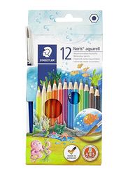 Staedtler 12-Piece Noris Aquarell Water Color Pencil Set, Multicolor