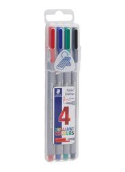 Staedtler 4-Piece Triplus colorful Fineliner Pencil Set, Multicolor