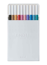 Uniball 10-Piece Emott Fineliner Pen Set, Multicolor