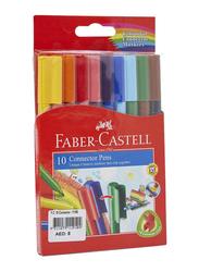 Faber-Castell 10-Piece Connector Colour Marker Pen Set, Multicolour