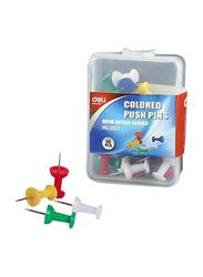 Deli Push Pin, 5 Pack x 35 Pieces, Multicolor