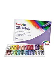 Pentel Arts Oil Pastels Set, 50 Pieces, Multicolour
