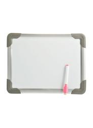 Partner Mini Dry Erase Board, White/Grey