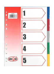 Deluxe Amt Index Divider without Number, Multicolour