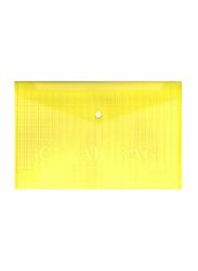 Partner Fullscape Document File Clear Bag, 350 x 250mm, Yellow