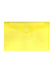 Partner Fullscape Document File Clear Bag, 350 x 250mm, Yellow