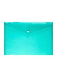 12-Piece A4 Clear Document Bag Set, Green