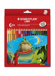 Staedtler 24-Piece Luna Coloured Pencil Set with Sharpener, Multicolor