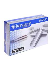 Kangaro Staple Pins, 1000 Pins, Silver