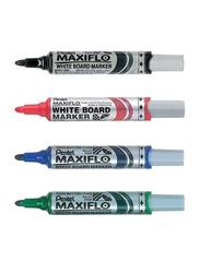 Pentel 4-Piece Maxiflo White Board Marker Set, Multicolour