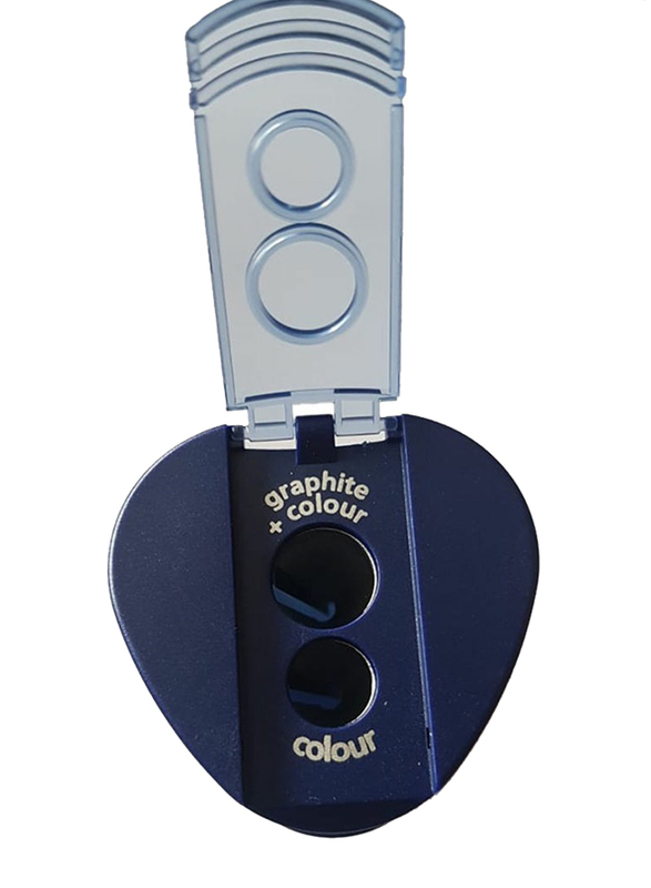 Staedtler Double Hole Tub Pencil Sharpener, Blue