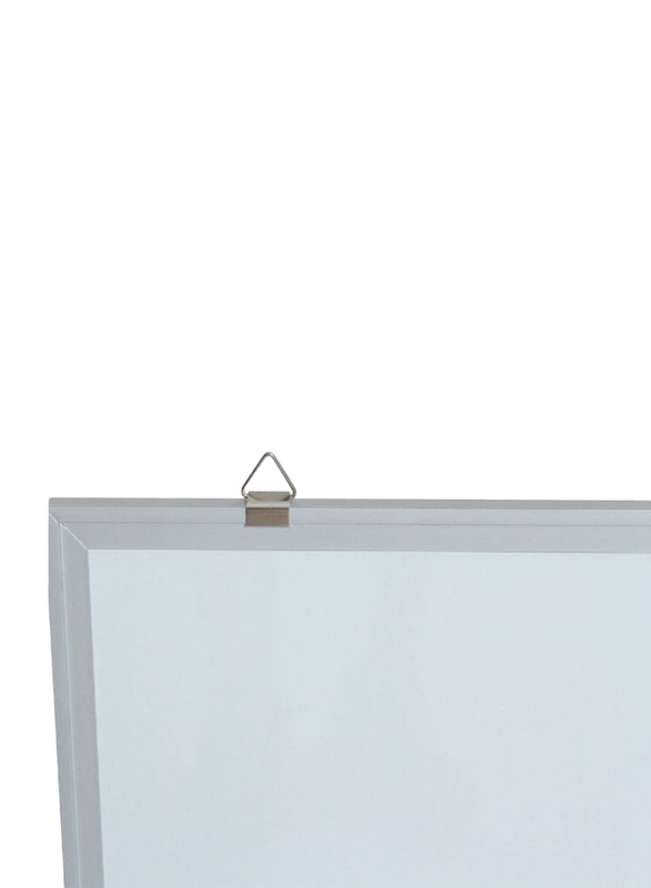 Deli White Board with Magnetic Frame, 90 x 120cm, White
