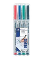 Staedtler 4-Piece Lumocolor Fine Point Marker Set, Multicolour