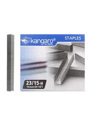 Kangaro Staple Pin Set, 1000-Piece, Silver