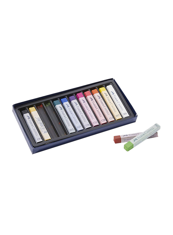 Faber-Castell Soft Pastel Crayons, 12 Pieces, 128312, Multicolor