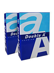 Double A Premium 80GSM Printer Paper, 5 x 100 Sheets, A4 Size, White