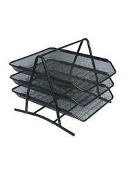 3-Tier Multi-Functional Paper Tray, Black