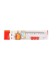 Deli 15cm Anti-Slip Ruler, Clear