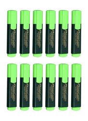 Faber-Castell 12-Piece Textliner 48 Refill Highlighter Pen Set, Green/Black