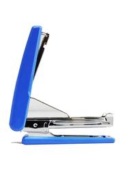 Deli Mini Desktop Stapler, Blue/Silver