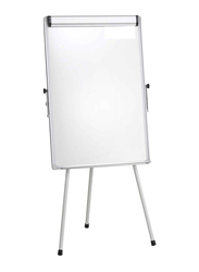 Flip Chart Stand with Magnetic White Board, White