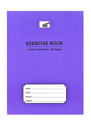 PSI Four Line Exercise Notebook, 200 Pages, A5 Size, Blue