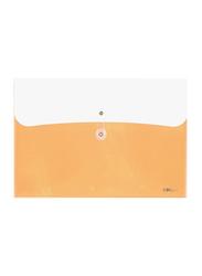Deli File Bag with Rope Closure, Orange/White