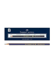 Faber-Castell 12-Piece Goldfaber 1221 Graphite Pencil Set, Blue/Gold