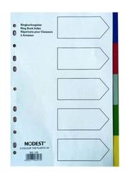 Modest 1-54 PVC 5 Color Divider File Folder, A4 Size, Multicolour
