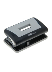 Deli Two Hole Paper Punch, Black/Grey