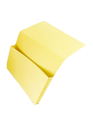 Premier Pocket File Folder Set, 100 Pieces, Yellow