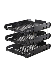 Deli 3 Stage Document Tray, Black