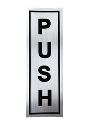 Push Door Sticker, Silver