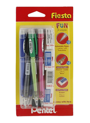 Pentel 10-Piece Fiesta Mechanical Pencil And Eraser Set, Multicolor