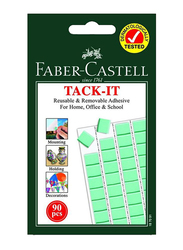 Faber-Castell Tack-It Removable Adhesive, 90 Pieces, Green