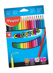 Maped 18-Piece Peps Color Pencil Set, Multicolor