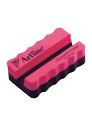 Artline Caddy Type Magnetic White Board Eraser, Pink/Black